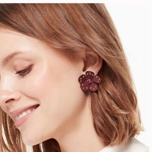 KATE SPADE NY Blooming Bling Leather Studs